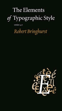 Cover of 'The Elements of Typographic Style' by Robert Bringhurst
